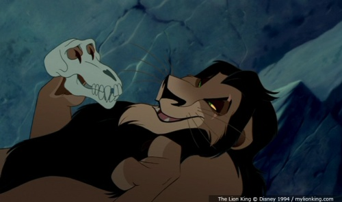 lion king scar holding the skull