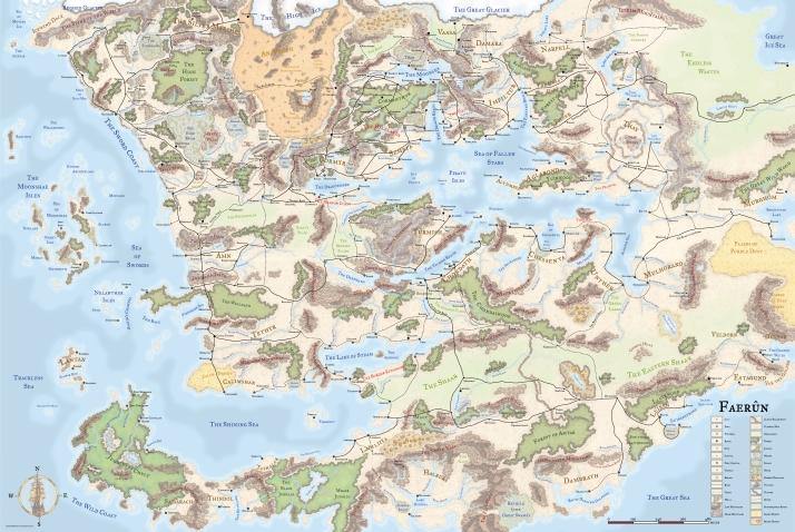 Map - Faerun - Ridotta